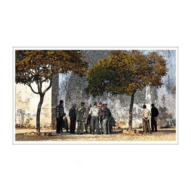 """The Gathering"" stock image"