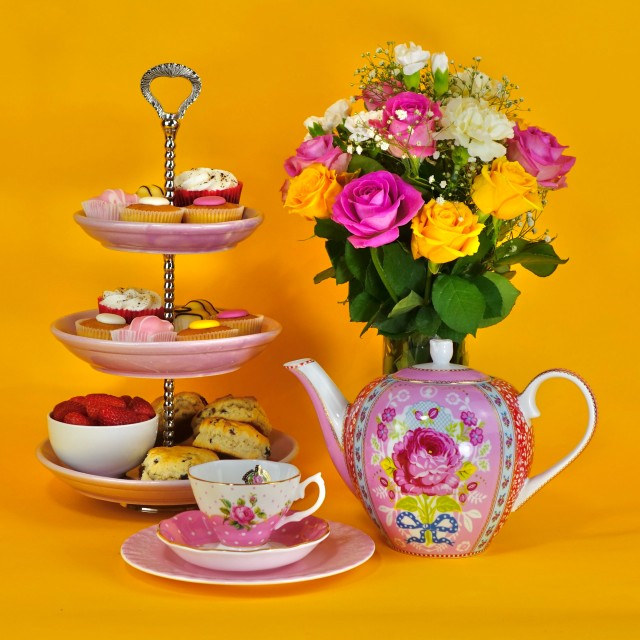 """""""Traditional Afternoon Tea"""" stock image"""