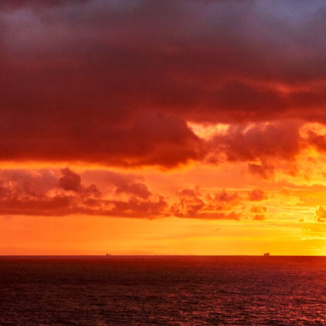 """Sunrise Before the Storm"" stock image"