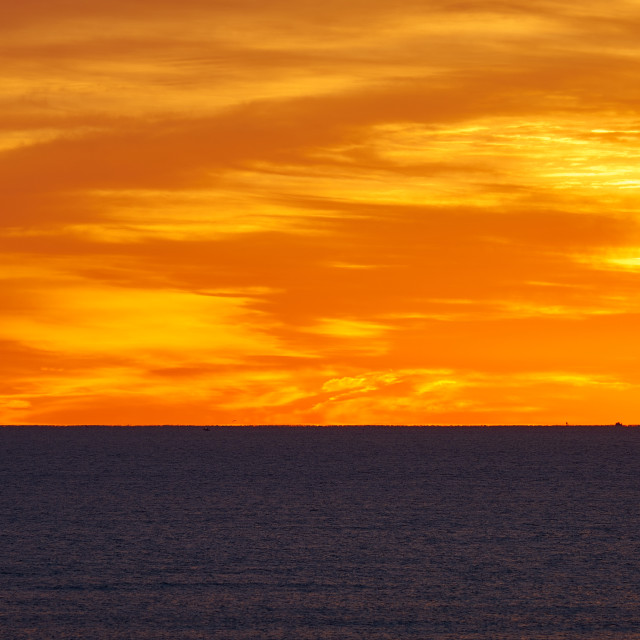 """Orange Sunrise in Winthrop, Massachusetts"" stock image"