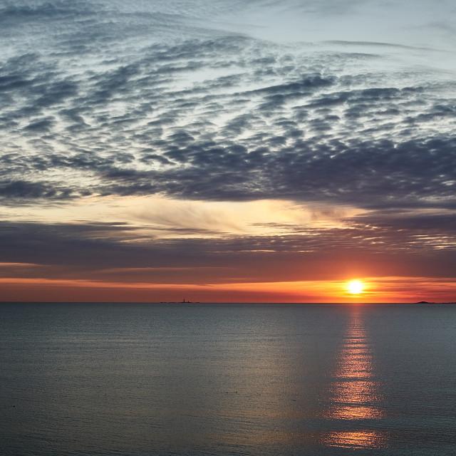 """Peaceful Sunrise in Winthrop, Massachusetts"" stock image"