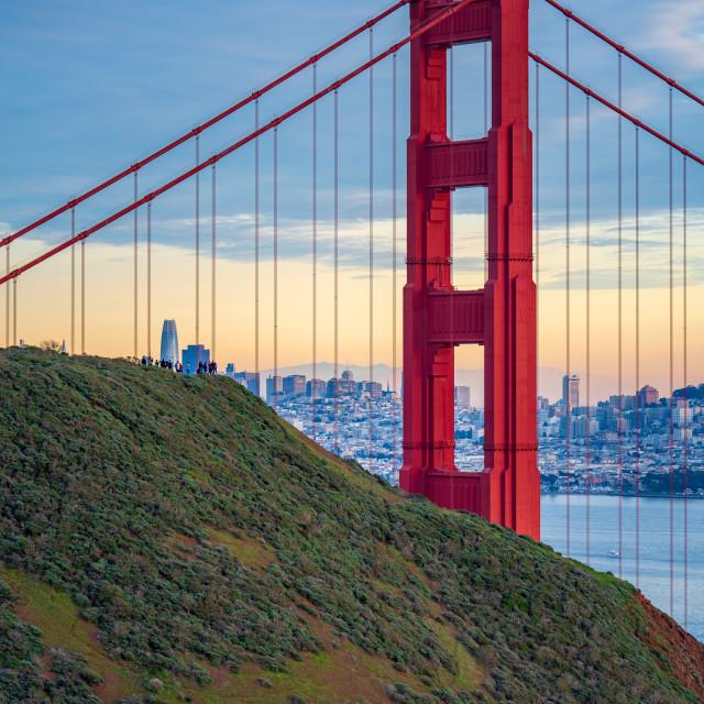 """Golden Gate Bridge at sunset #2"" stock image"