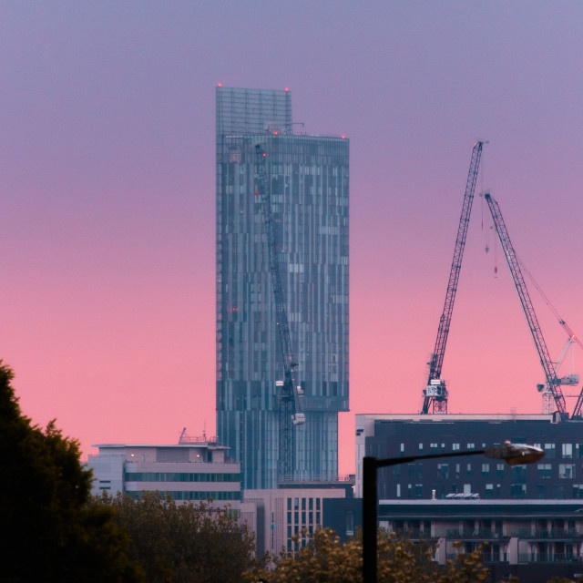 """""""Beetham Tower Blue Hour"""" stock image"""