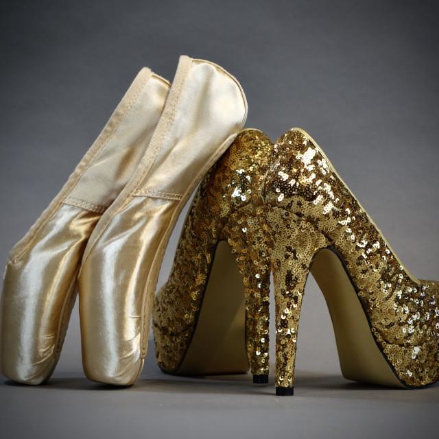 """""""Shoe Stories : Heels & Toes"""" stock image"""