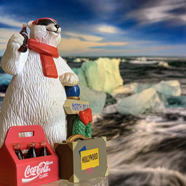 """Coca Cola Polar Bear Collectible 02"" stock image"