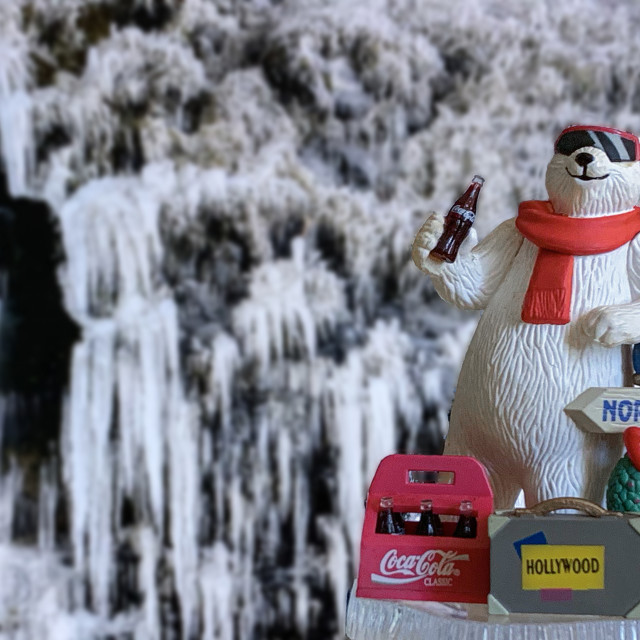 """Coca Cola Polar Bear Collectible 03"" stock image"