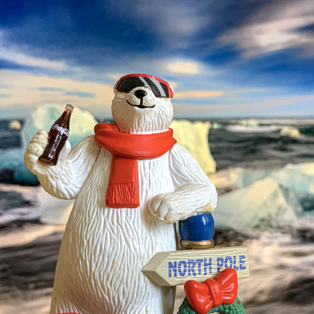 """Coca Cola Polar Bear Collectible 04"" stock image"