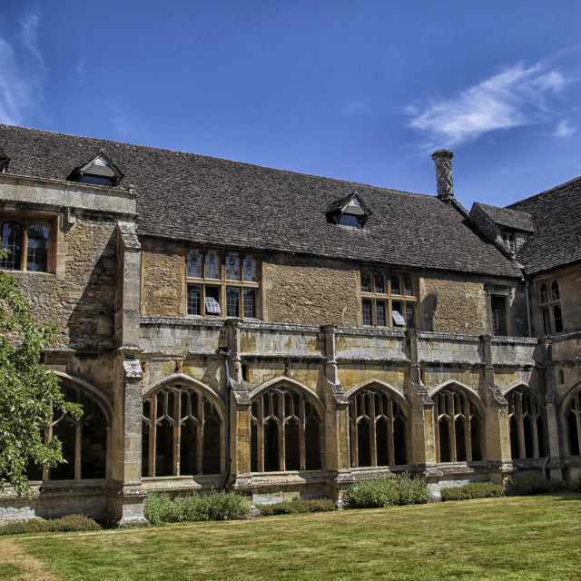 """""""Courtyard Lacock abbey in Wiltshire, England"""" stock image"""