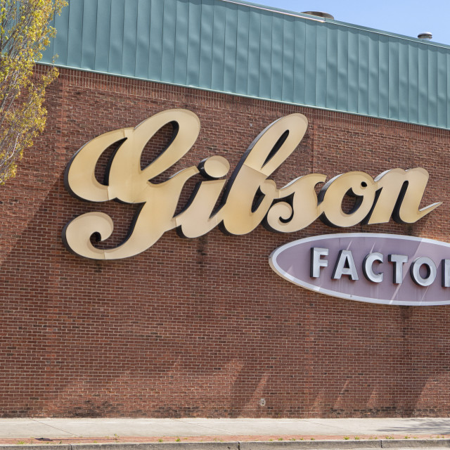 """Gibson factory Memphis"" stock image"