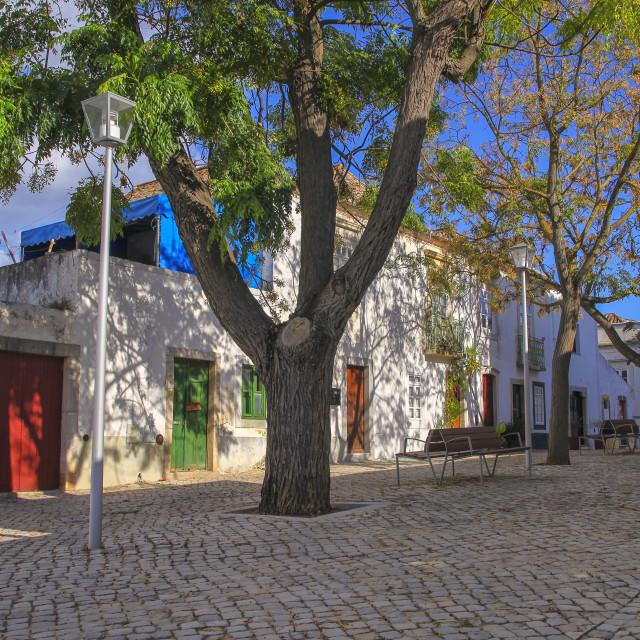 """""""Village of Tavira in Portugal"""" stock image"""