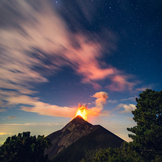 """Volcan Fuego"" stock image"