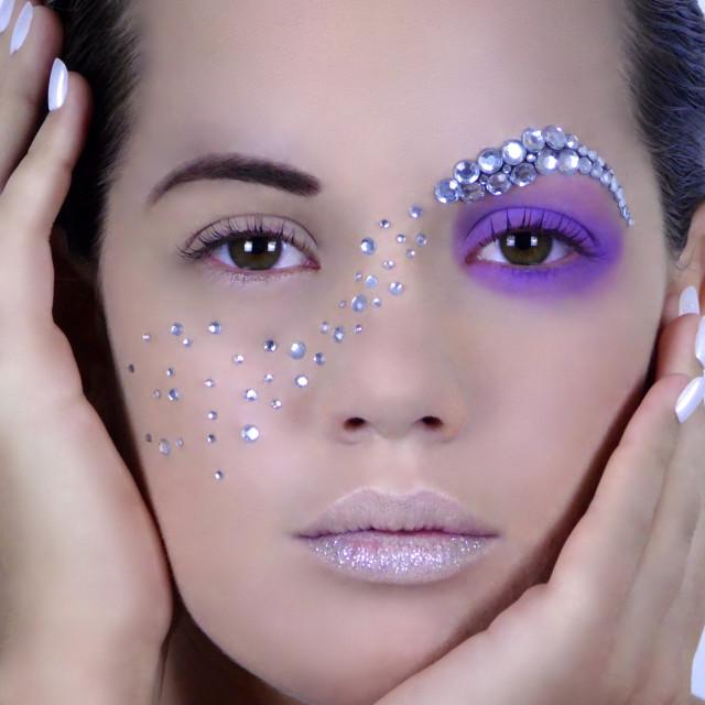 """Beauty : Creative Makeup"" stock image"