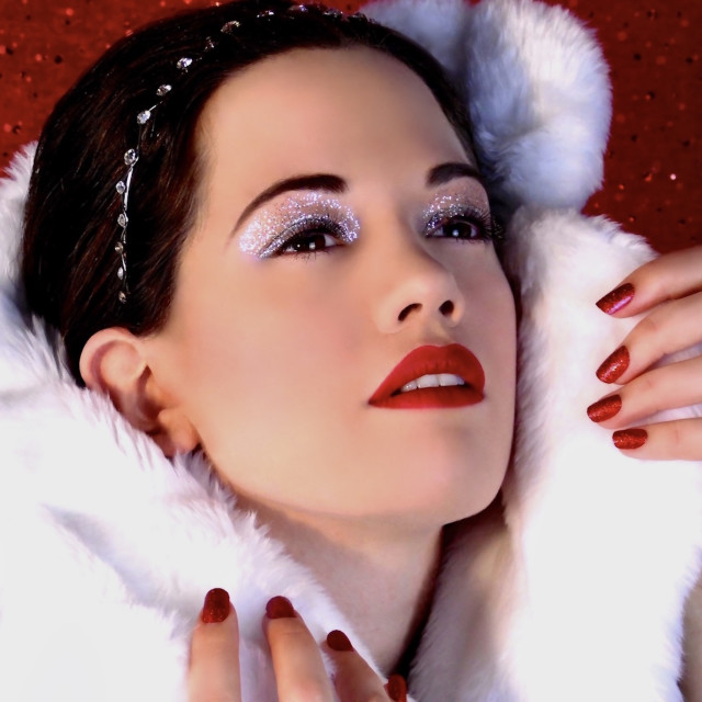"""""""Dreaming Of A White Christmas"""" stock image"""