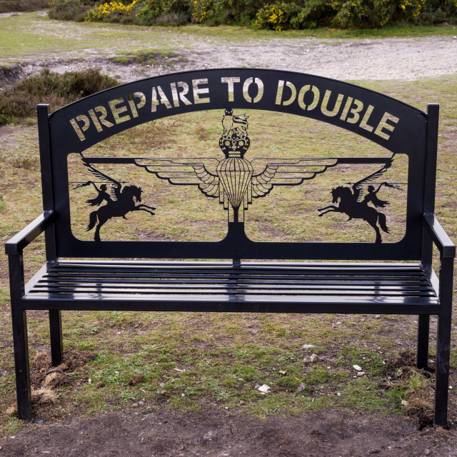 """Prepare to Double"" stock image"