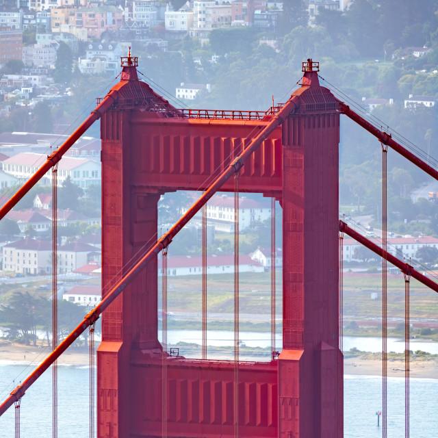 """Golden Gate Bridge close-up"" stock image"