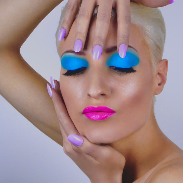 """""""Beauty Makeup : Colour Pop"""" stock image"""