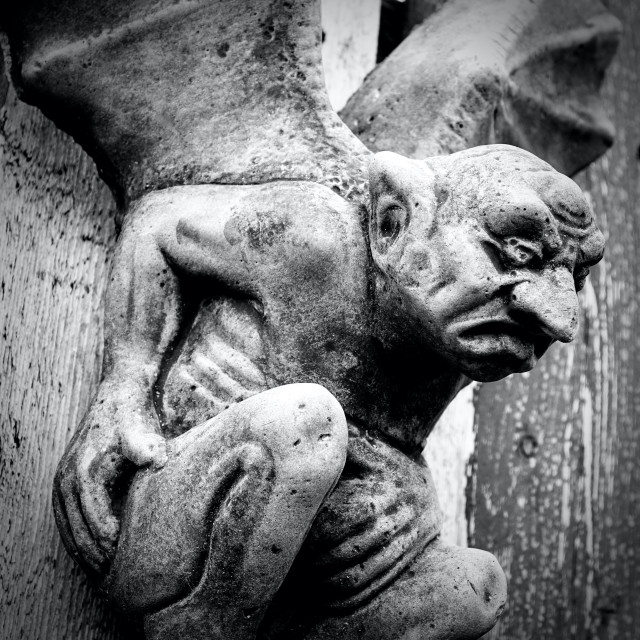 """Grumpy Stone Gargoyle"" stock image"
