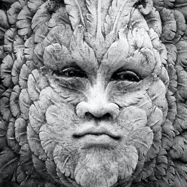 """Stone Ornament Face Plaque"" stock image"