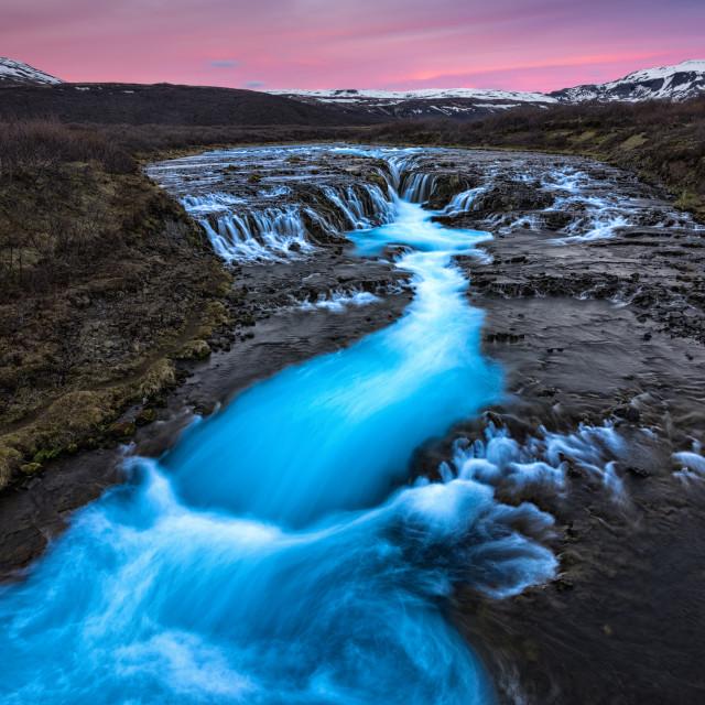 """Bruarfoss, Iceland in Spring"" stock image"