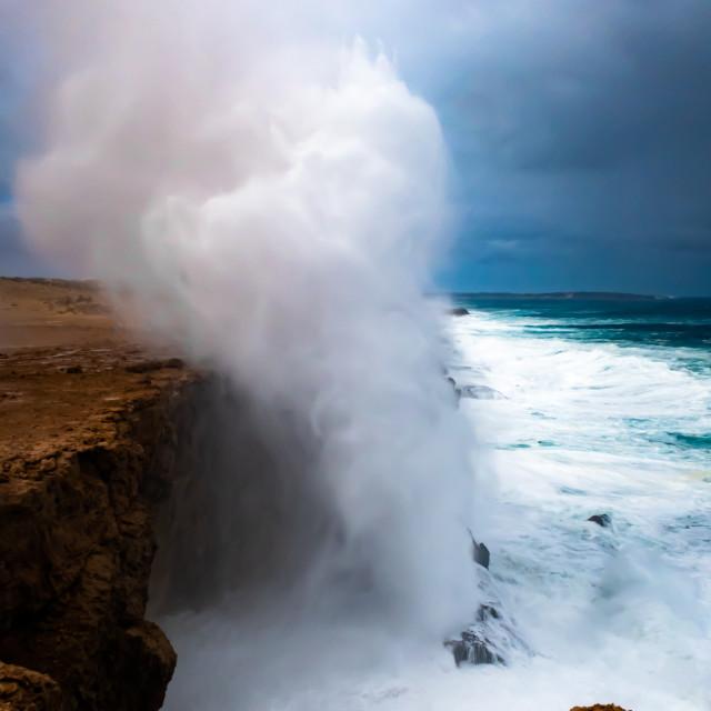 """Blowhole, Dirk Hartog Island"" stock image"