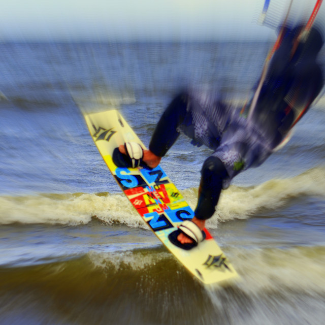 """""""Kiteboarding At Its Best"""" stock image"""