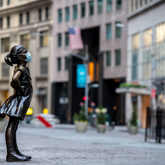 """Fearless Girl NYC"" stock image"