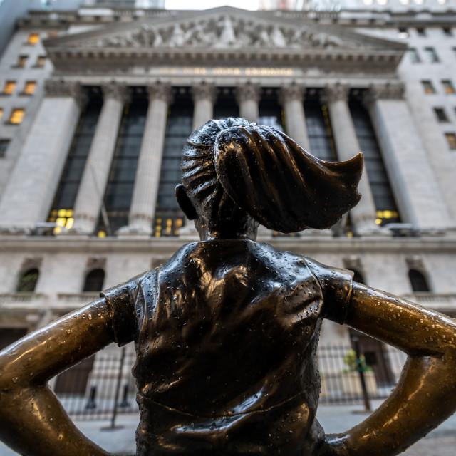 """""""Fearless Girl Stock Exchange"""" stock image"""