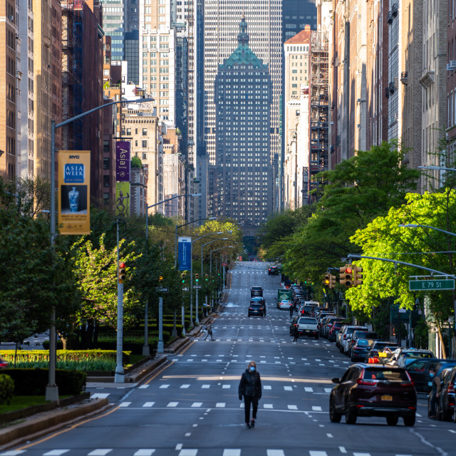 """Quiet Streets - Upper East Side"" stock image"