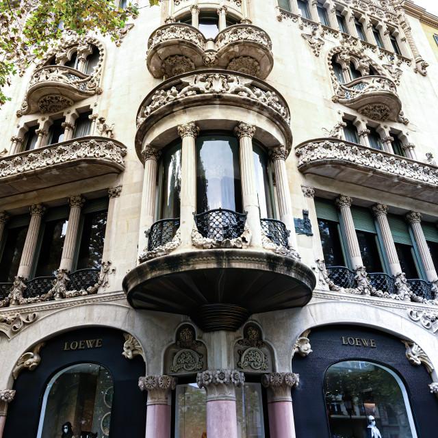 """Barcelona shop front"" stock image"