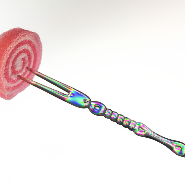 """Fork with Candy 02"" stock image"