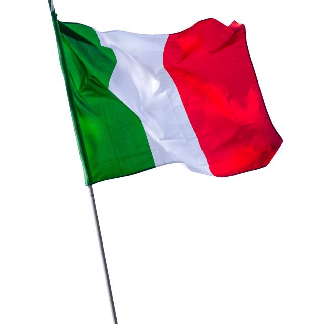 """Isolated Italian Flagpole"" stock image"