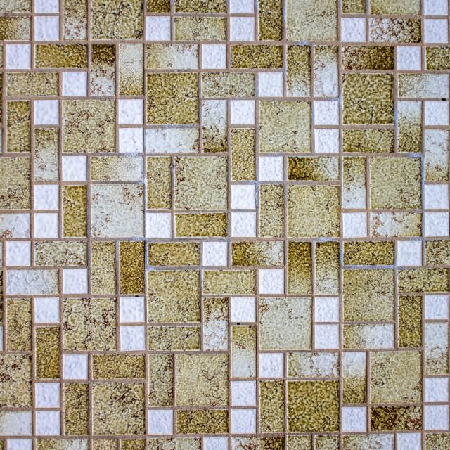 """Retro Ugly 1970s Mosaic Tiles"" stock image"