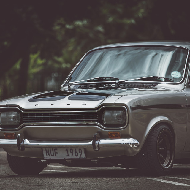 """Mk1 Ford Escort"" stock image"