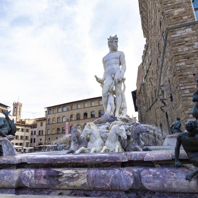 """Fountain of Neptune"" stock image"