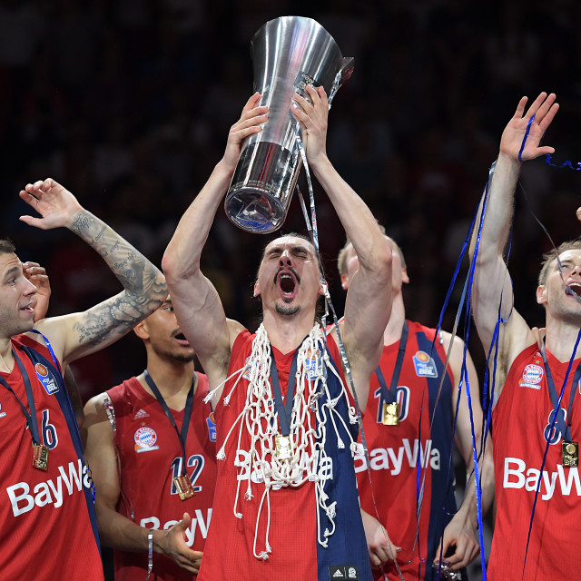 """Basketball BBL Playoff Finale Spiel 3, FC Bayern Basketball - Alba Berlin"" stock image"