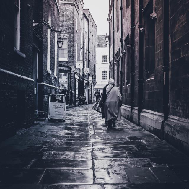 """All Saints Passage, Cambridge UK."" stock image"