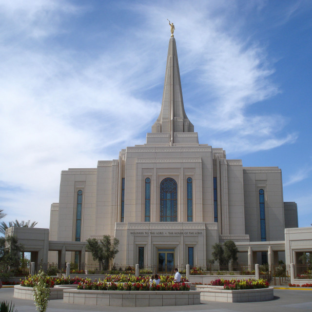 """Gilbert Mormon Temple, Arizona"" stock image"