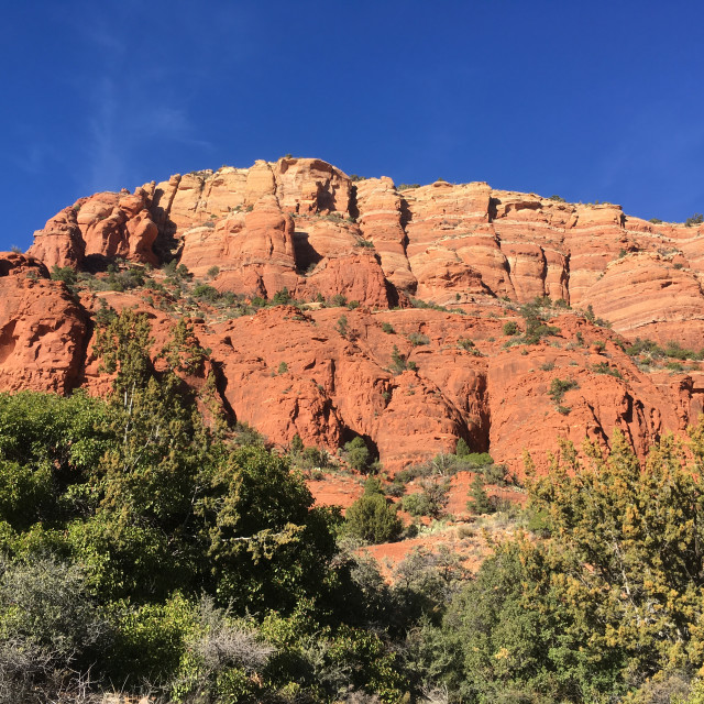 """""""Sedona red sandstone rock formations"""" stock image"""