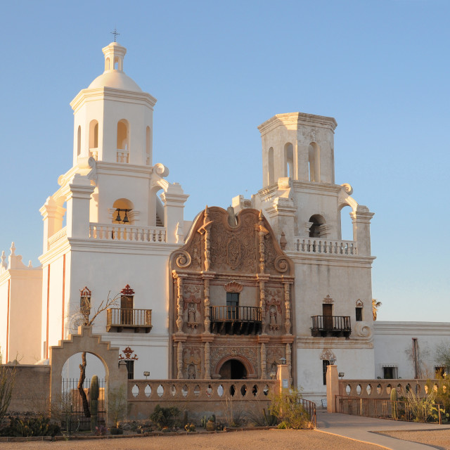 """Mission San Xavier del Bac ,Tucson"" stock image"