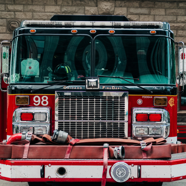 """Chicago Fire Fighters"" stock image"