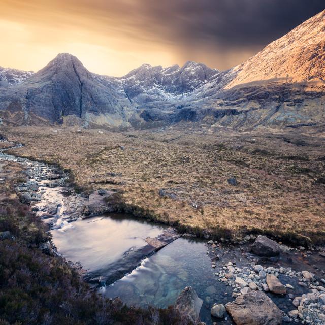 """Fairy Pools, Isle of Skye, Scotland, United Kingdom"" stock image"