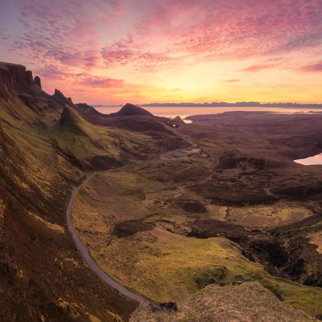 """""""Sunrise at the Quiraing, Isle of Skye, Scotland, United Kingdom"""" stock image"""