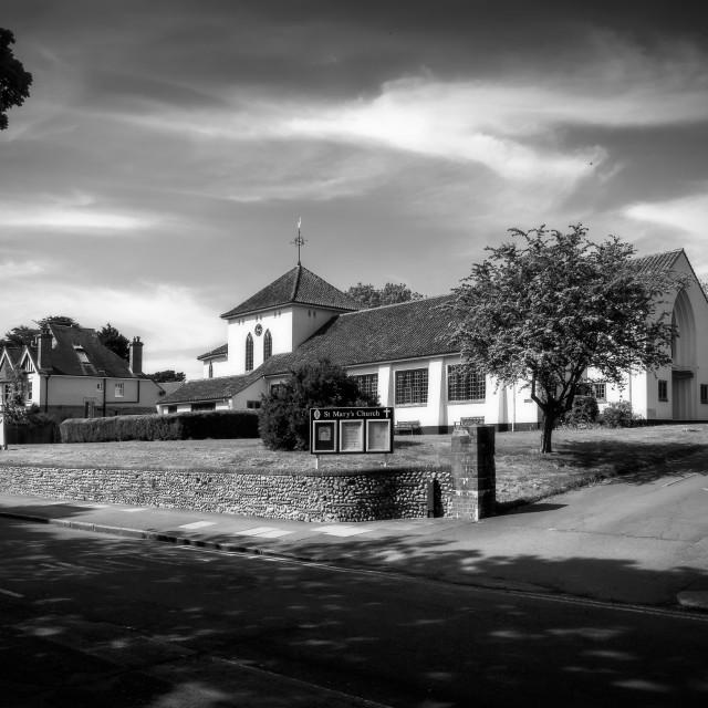 """St Mary's Church Hampden Park"" stock image"