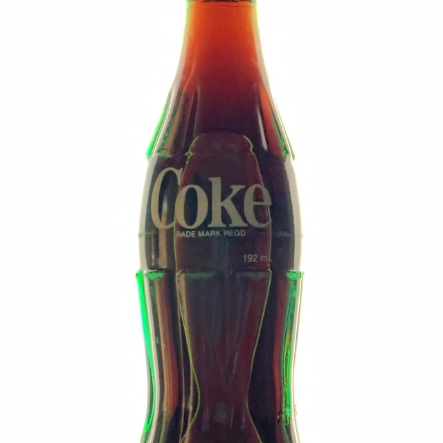 """Coke Green Bottle"" stock image"