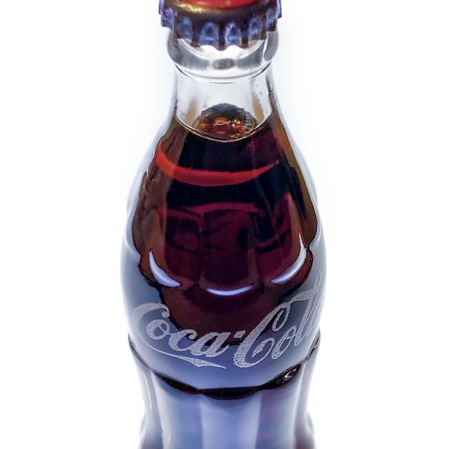 """Coke Miniature Pea Pod Glass Bottle"" stock image"
