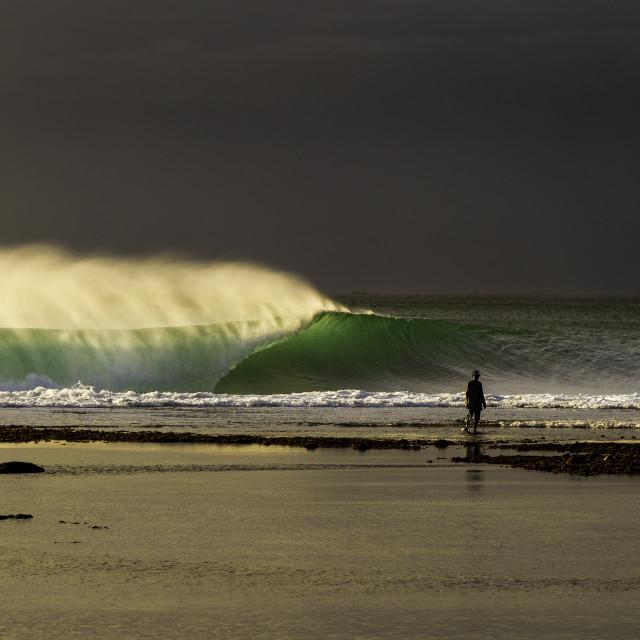 """""""Sunset wave"""" stock image"""