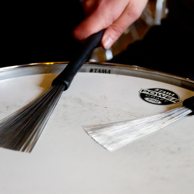 """""""Snare Drum and Brushes."""" stock image"""