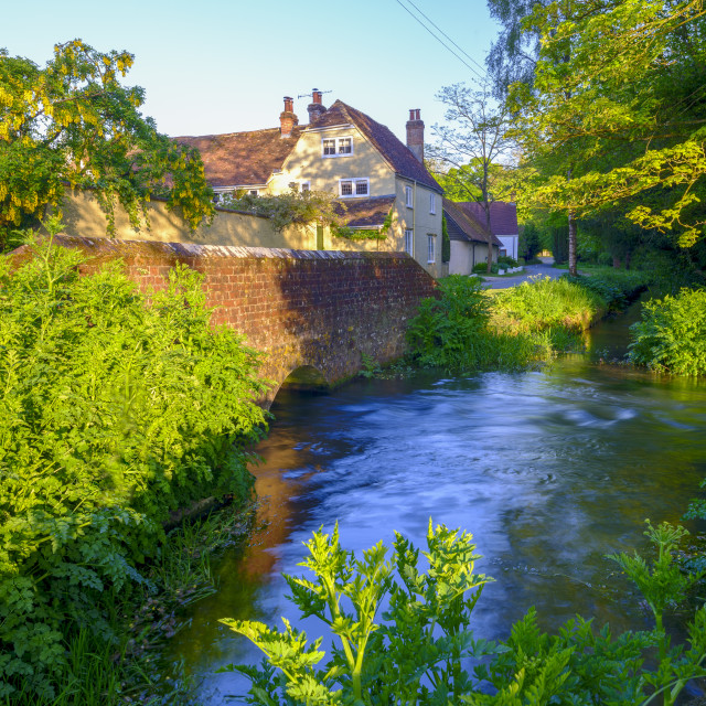 """The old ford at Warnford, in the Meon Valley, Hampshire, UK"" stock image"