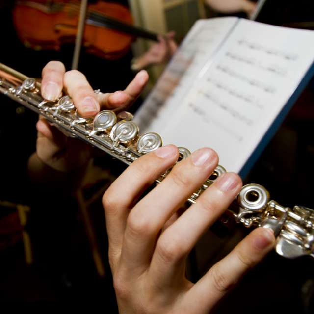 """""""Playing the Flute"""" stock image"""