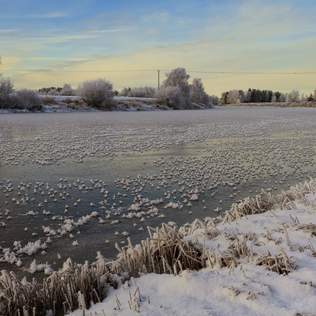 """""""Ice On The River Water"""" stock image"""